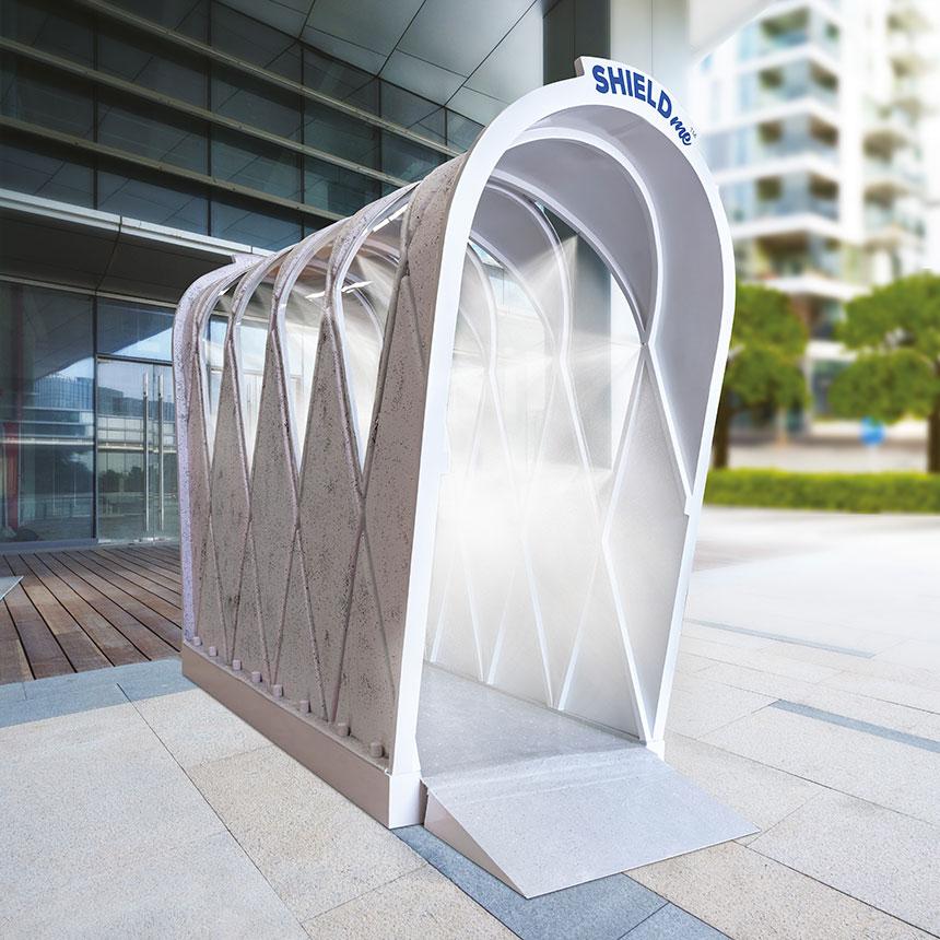 Sterilising Tunnel in Hotels